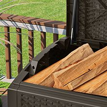 Keep Firewood Handy And Dry In A Durable Deck Box From Suncast