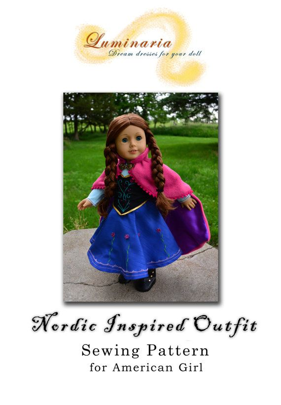 Doll Clothes Pattern in PDF To Make Nordic Inspired Dress Outfit ...