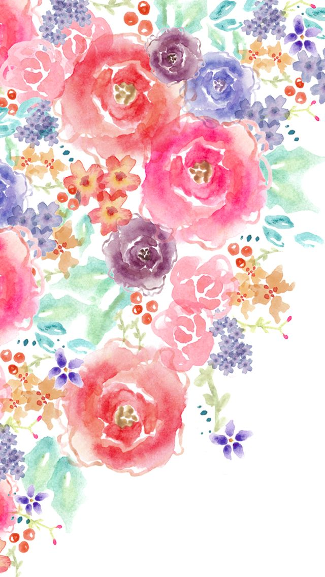Bg Wallpaper Pattern By Oum 彡 Watercolor Flower Background