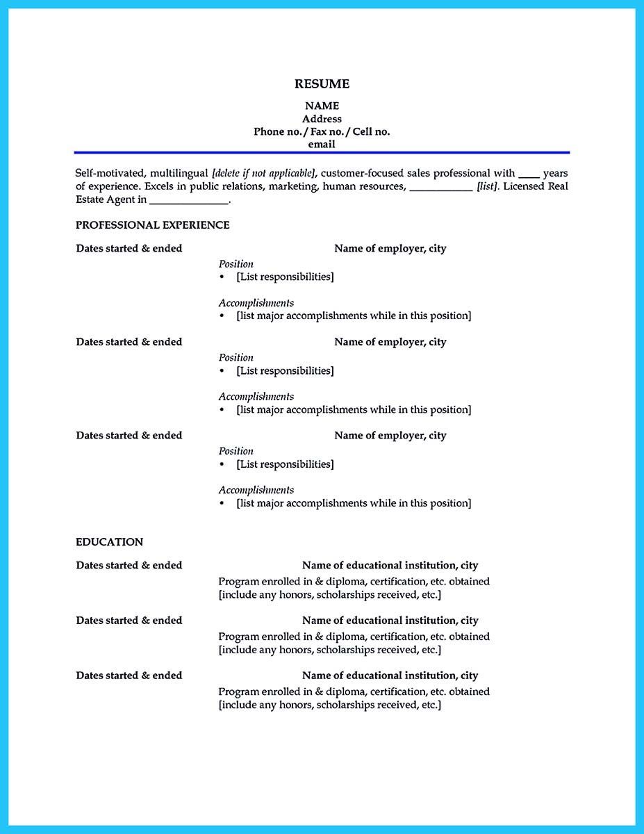 nice Captivating Car Salesman Resume Ideas for Flawless