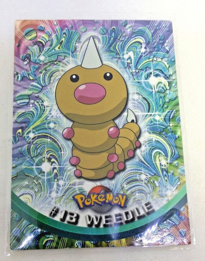Pokemon card 13 weedle topps trading cards 1999 topps