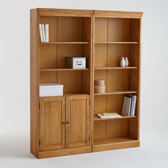 Bibliotheque Juxtaposable Authentic Style Mobilier De Salon Etageres Reglables Rangement