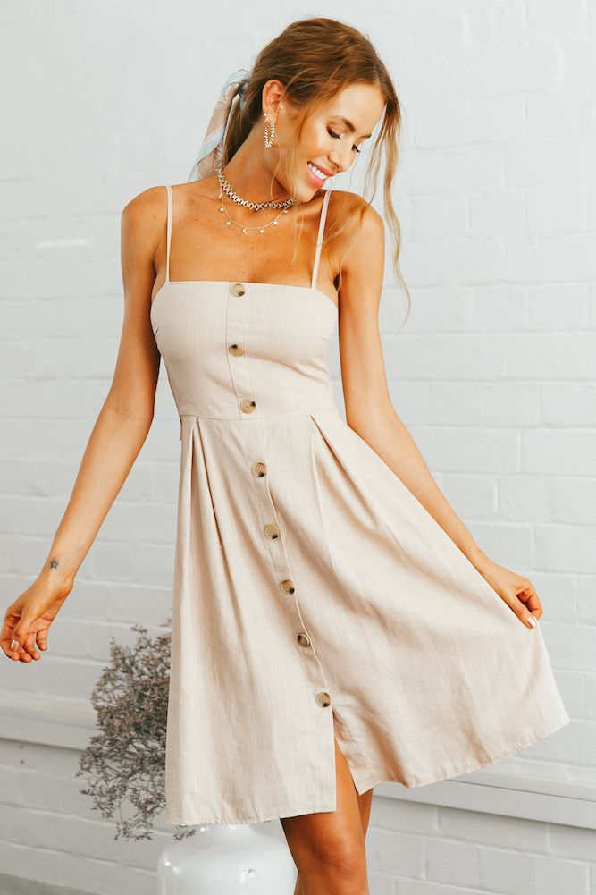 0233eb63e7 Just Dance Dress Beige