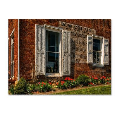 "Trademark Art ""Country Store"" by Lois Bryan Photographic Print on Wrapped Canvas Size: 22"" H x 32"" W x 2"" D"