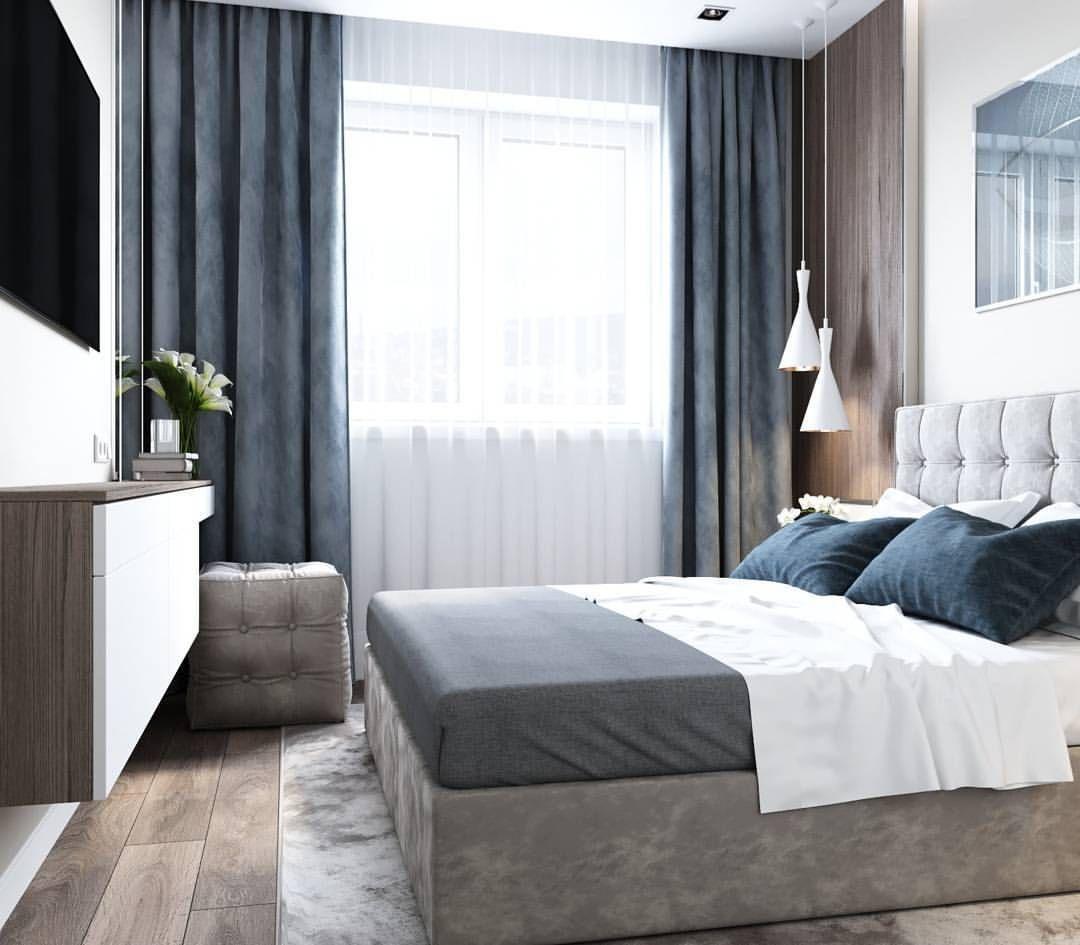 Интерьер жилого дома Галерея 3dddru: Проект спальни в Мурманске.