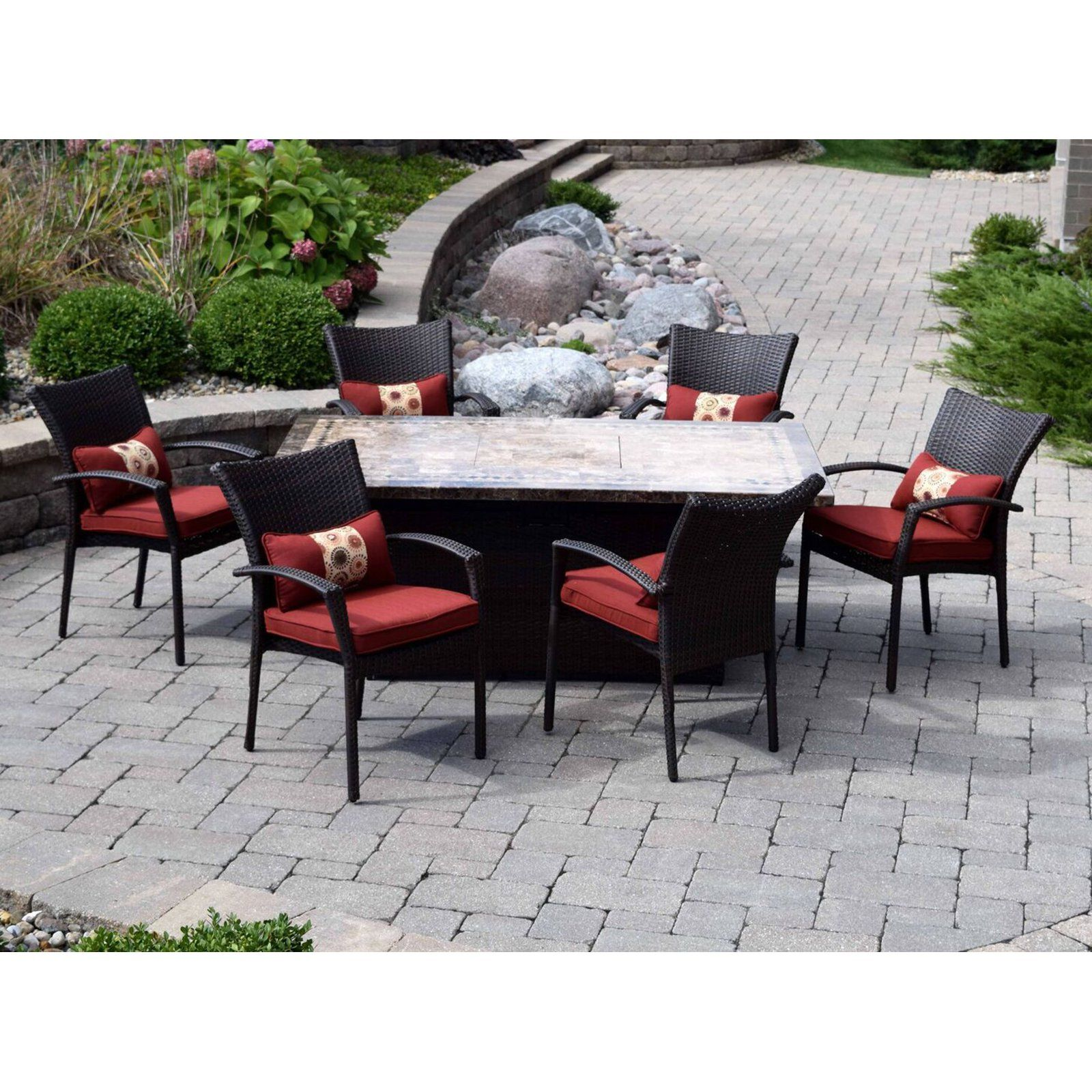 Outdoor Innovations South Beach Wicker Fire Pit Chat Set XAW