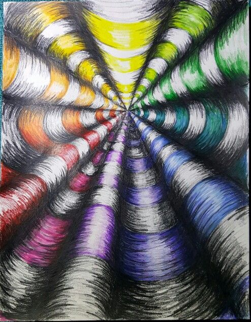 Colorwheel op art Wooley Art Ed Central
