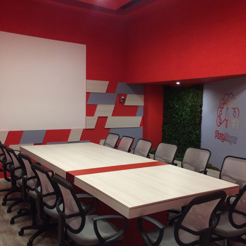 Sala roja diseño by SÓLIDO ARQUITECTURA