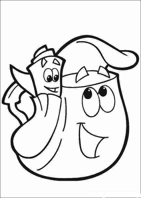 dora the explorer stars coloring pages | Dora the Explorer coloring ...