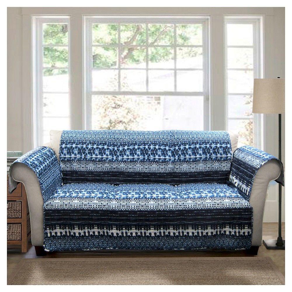 Navy Blue Lambert Tie Dye Furniture Protectors Sofa Slipcover Sofa Protector Furniture Loveseat Slipcovered Sofa