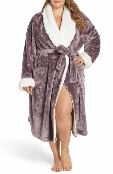 b29ea8b01 Nordstrom Lingerie Frosted Plush Robe (Plus Size)