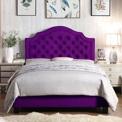Swanley Upholstered Standard Bed Size Twin Color Purple In 2020
