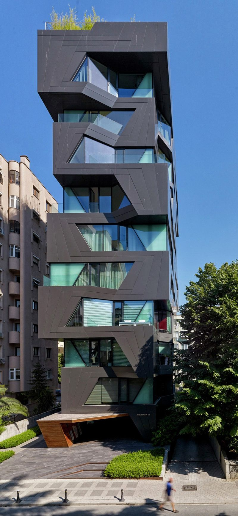 Exterior: The Exterior Of This Apartment Building Is A Break From