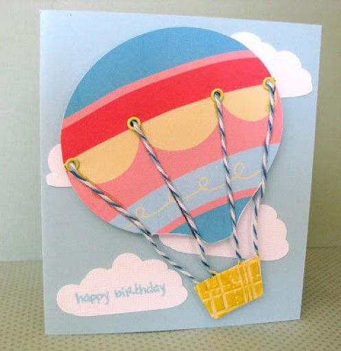 Homemade Hot Air Balloon Greeting Cards Ideas Birthday Pop Up – Ideas for Birthday Greetings