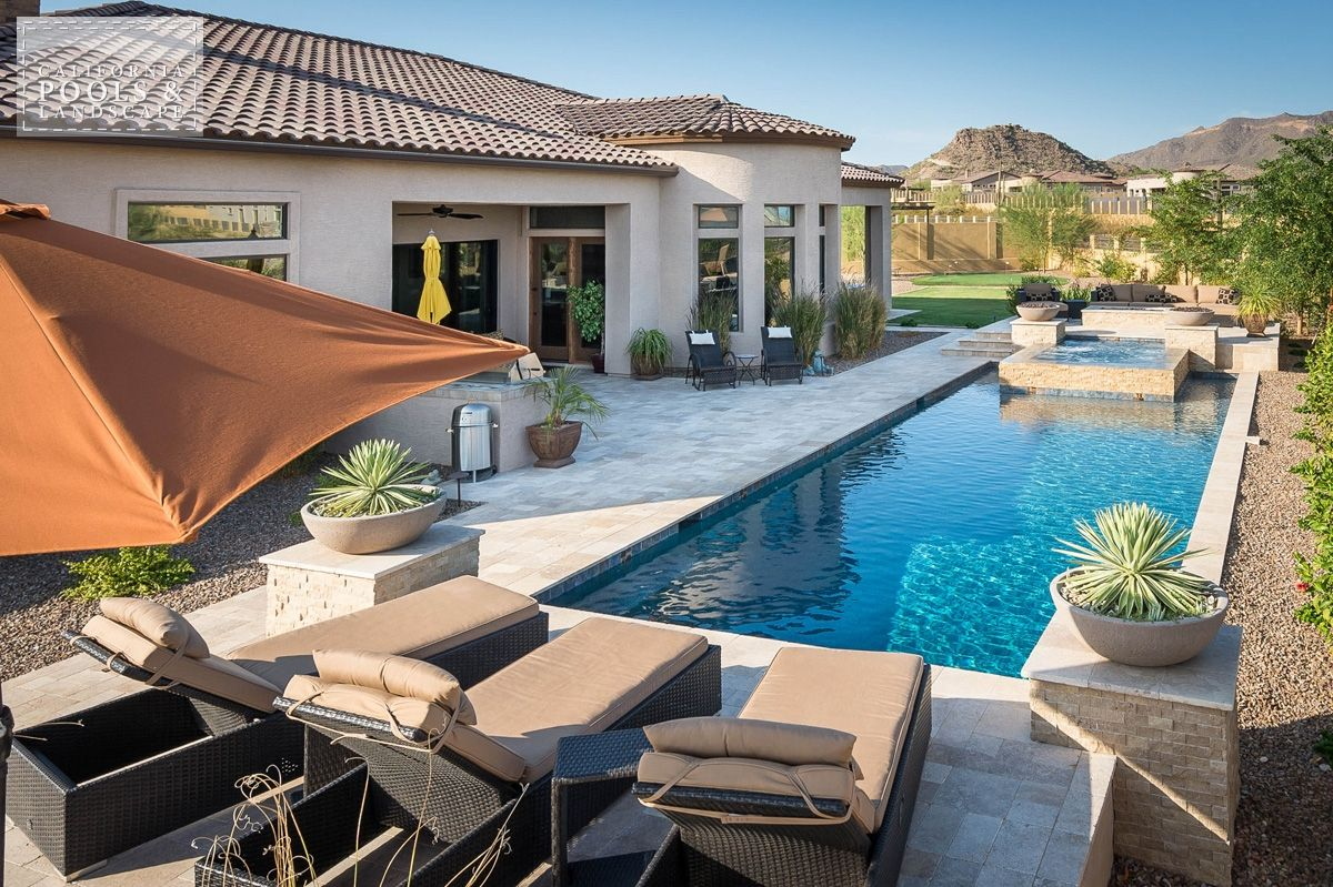 California Pool Landscape Gallery Of Completed Backyards California Pools Pool Landscaping Backyard