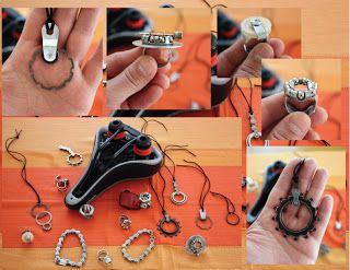 different goodies made from bike parts
