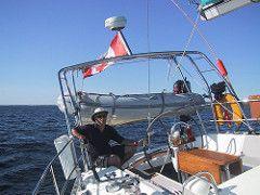 Arch Sailing 3 Klacko Marine Tags Ocean Blue Ontario Canada Water Island Mirror Solar Catalina Marine Arch Power Panel Wind Yacht Steel Welding Satel Zeilboot