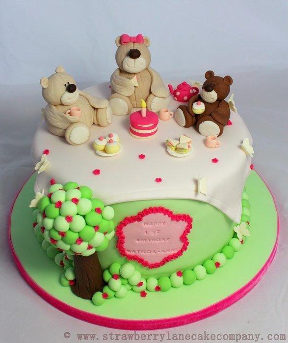 Teddy Bears Picnic Cake Cake by Strawberry Lane Cake Company