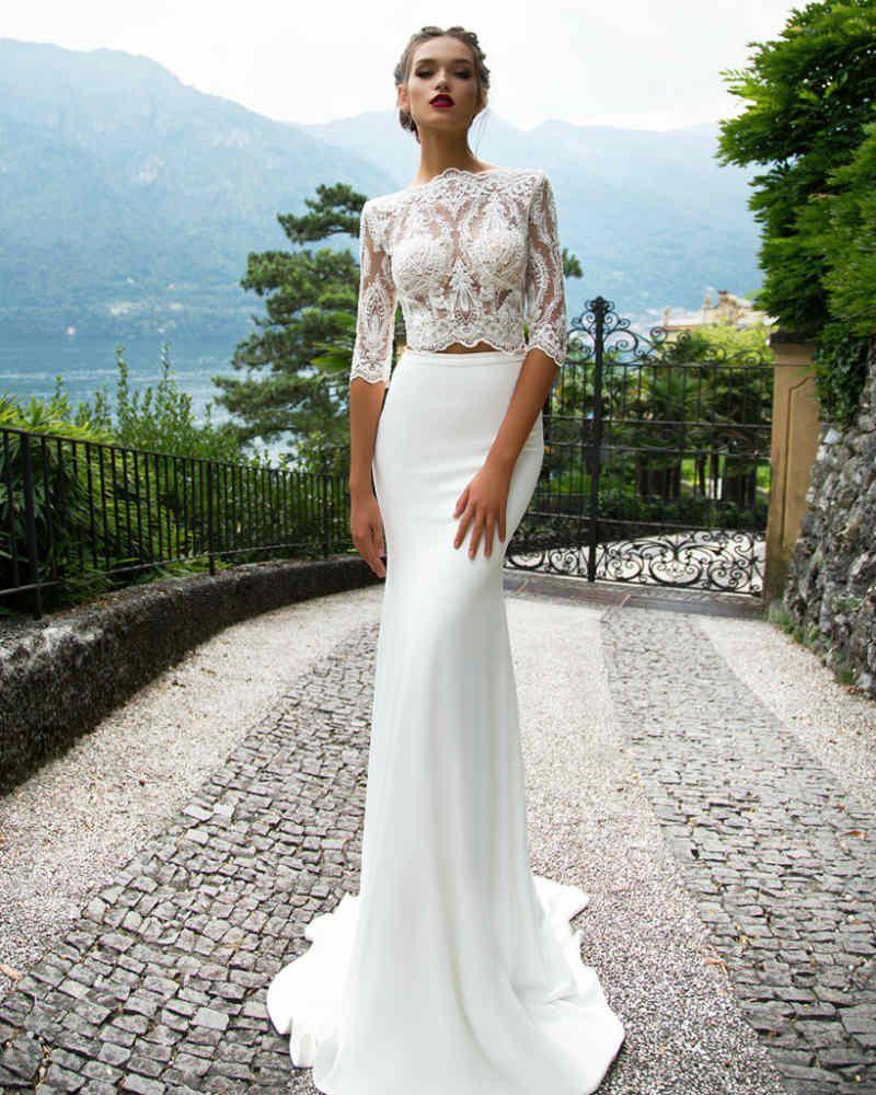 Milla nova 2017 wedding dresses two piece wedding dress for 2 piece wedding dresses