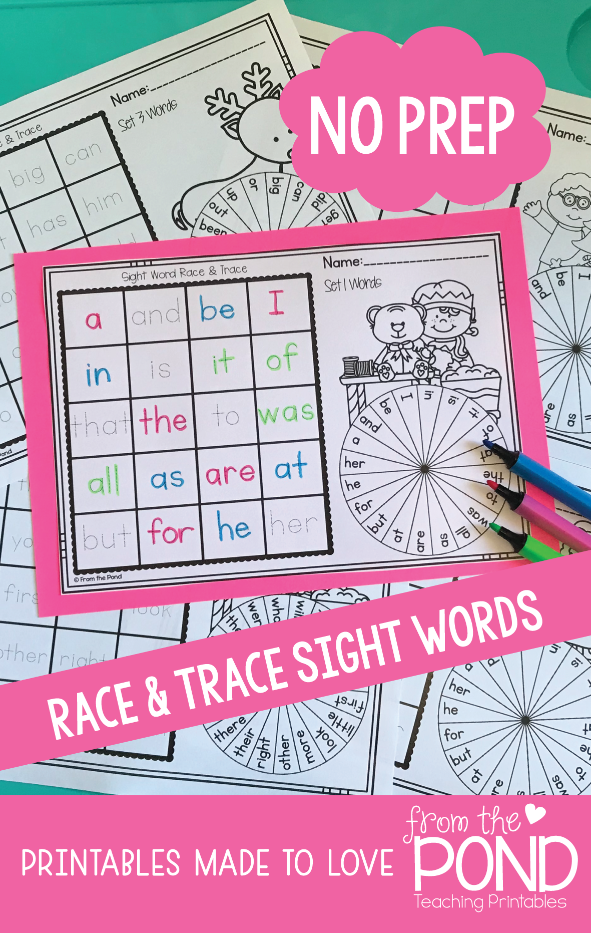 December Winter Christmas Race Amp Trace Sight Word