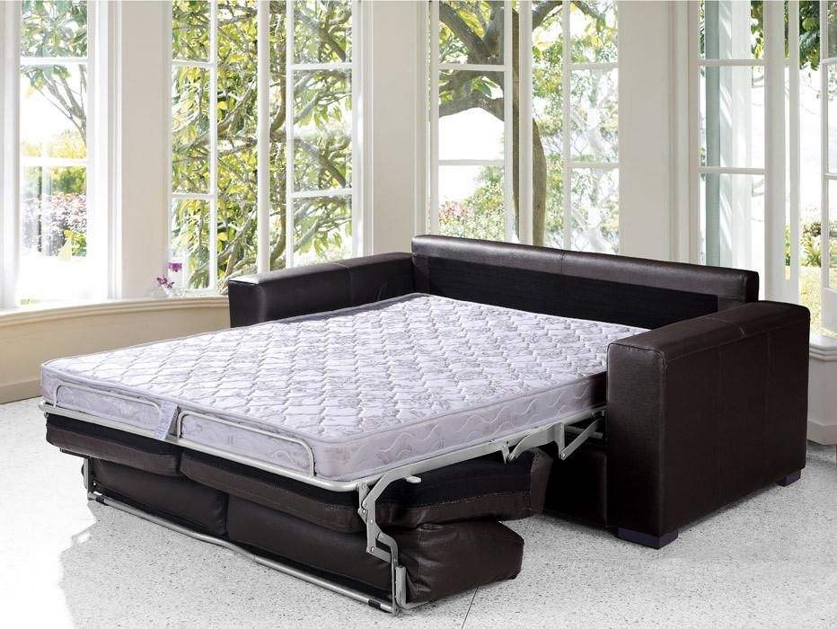 Dual Modern Chocolate Brown Leather Sofa Bed Cheap Sofa Beds