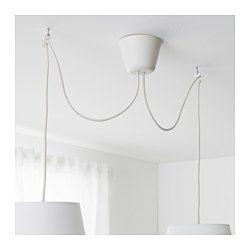 IKEA - HEMMA, Aufhängung 2-fach, Passend für 2 Deckenleuchten - so entsteht Beleuchtung auf individuelle Art.