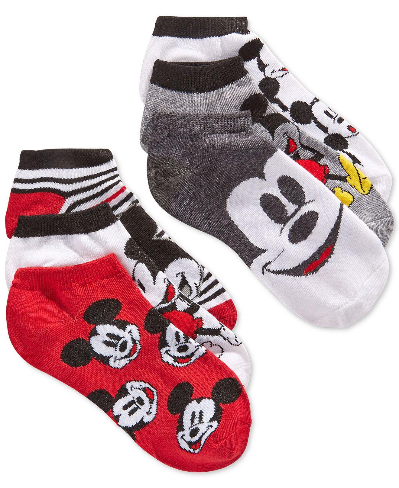 72da119d41cda Disney Women's Mickey No-Show Ankle Socks 6 Pack - Handbags ...