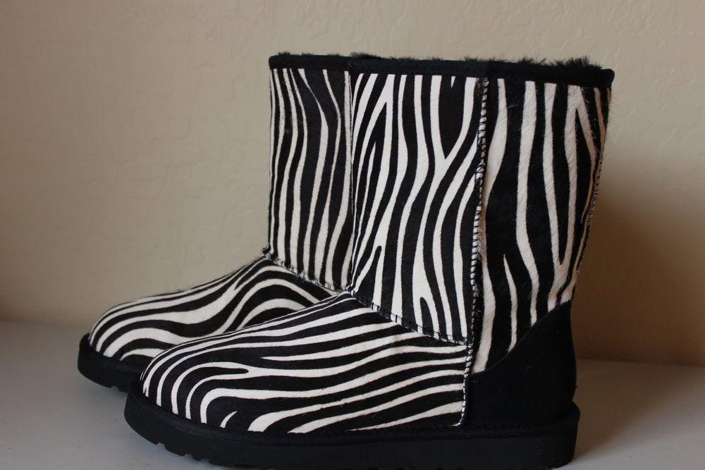 bca7910472a UGG Australia Classic Exotic Zebra Print Sheepskin Boot Women's Size ...