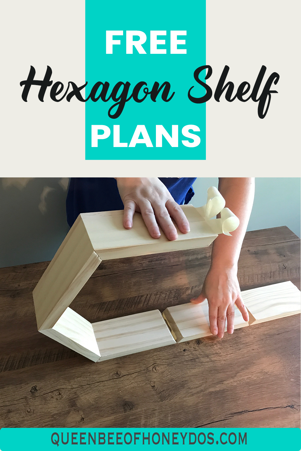 Photo of How To Build and Hang Honeycomb Shelves • Queen Bee of Honey Dos