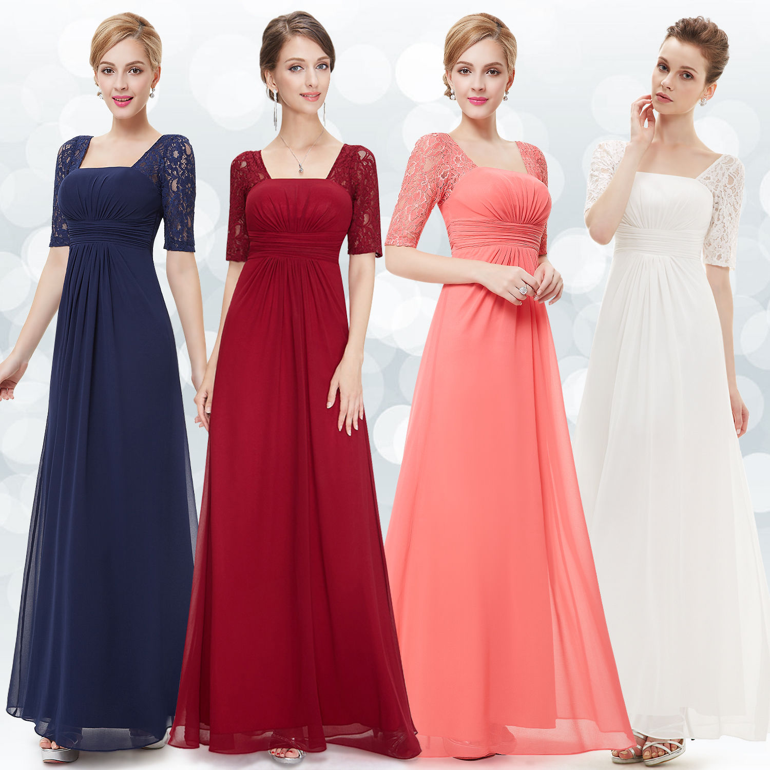 Awesome great us women chiffon formal gown evening prom party plus