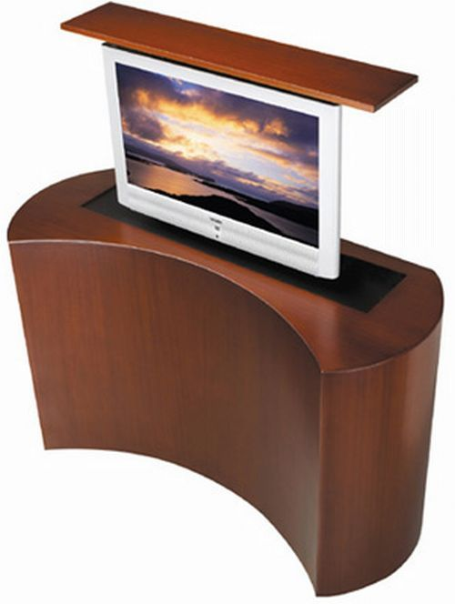 television pop up or motorized screens coast motorized. Black Bedroom Furniture Sets. Home Design Ideas