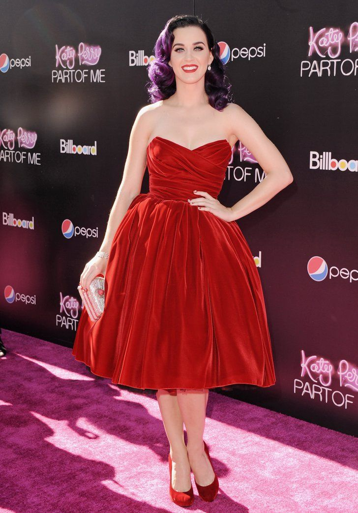 Pin for Later: 51 Times Starlets Wowed in Scarlet on the Red Carpet Katy Perry