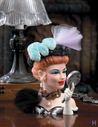 relpo lady vintage head vase