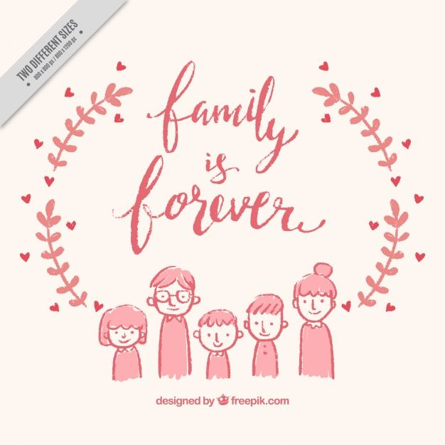 hand drawn family background free vector my freepik pinterest