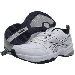 6pm.com is proud to offer the Reebok - Reebok Royal Trainer MT (White/Collegiate Navy/Pure Silver) - Footwear: Take your training to a whole new plane of existence in the Reebok Reebok Royal Trainer MT. ; Synthetic upper provides lightweight durability, comfort, and breathability. ; Perforated detail for ventilation. ; Lace-up front for a secure fit. ; EVA-cushioned midsole for comfortable shock absorption. ; Forefoot grooves offer flexibility with each step. ; Durable rubber sole with tread…