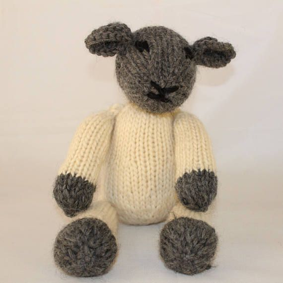 Knitting Pattern Us For Lucy Lamb A Cute Black Face Knitted Lamb