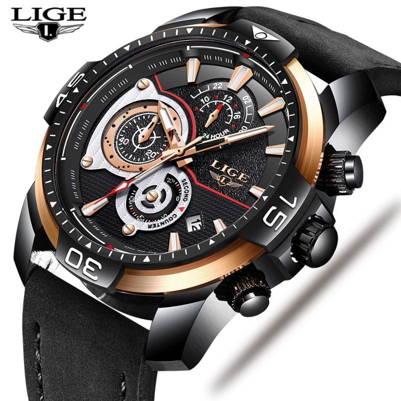 Часы мужчины бизнес deluxe