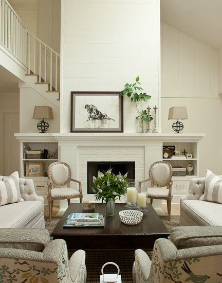 Furniture, Farmhouse Formal Living Room Ideas With White
