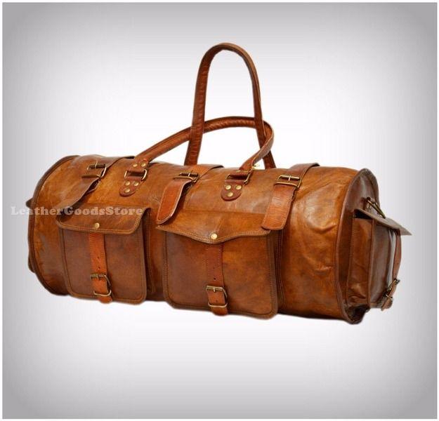 magasin en ligne ee32a fdef6 Cuir Voyage bagages vintage DuffelBag Nuit de ...