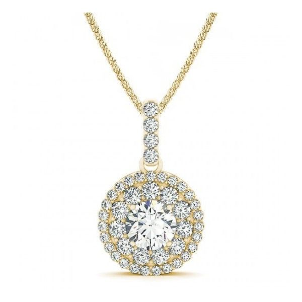 88ctw vintage double halo round diamond pendant necklace setting 88ctw vintage double halo round diamond pendant necklace setting in 1599 mozeypictures Image collections