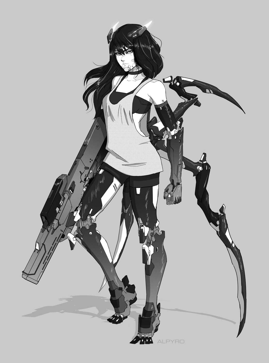 Artstation Cyborg Girl 30 Remy Paul Cyborg Girl Cyberpunk
