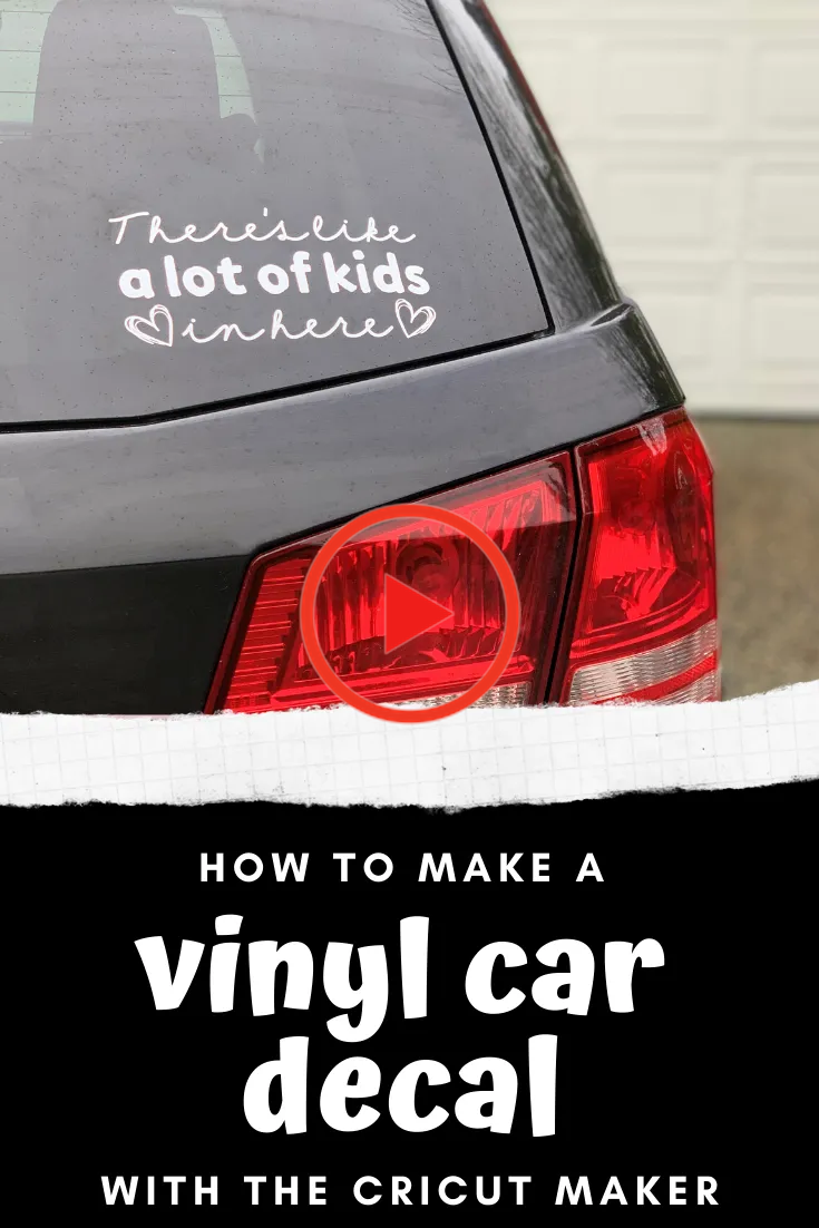 How To Make A Vinyl Car Decal With The Cricut Maker More Than Your Average Mom In 2020 Car Decals Vinyl Car Decals Funny Car Decals