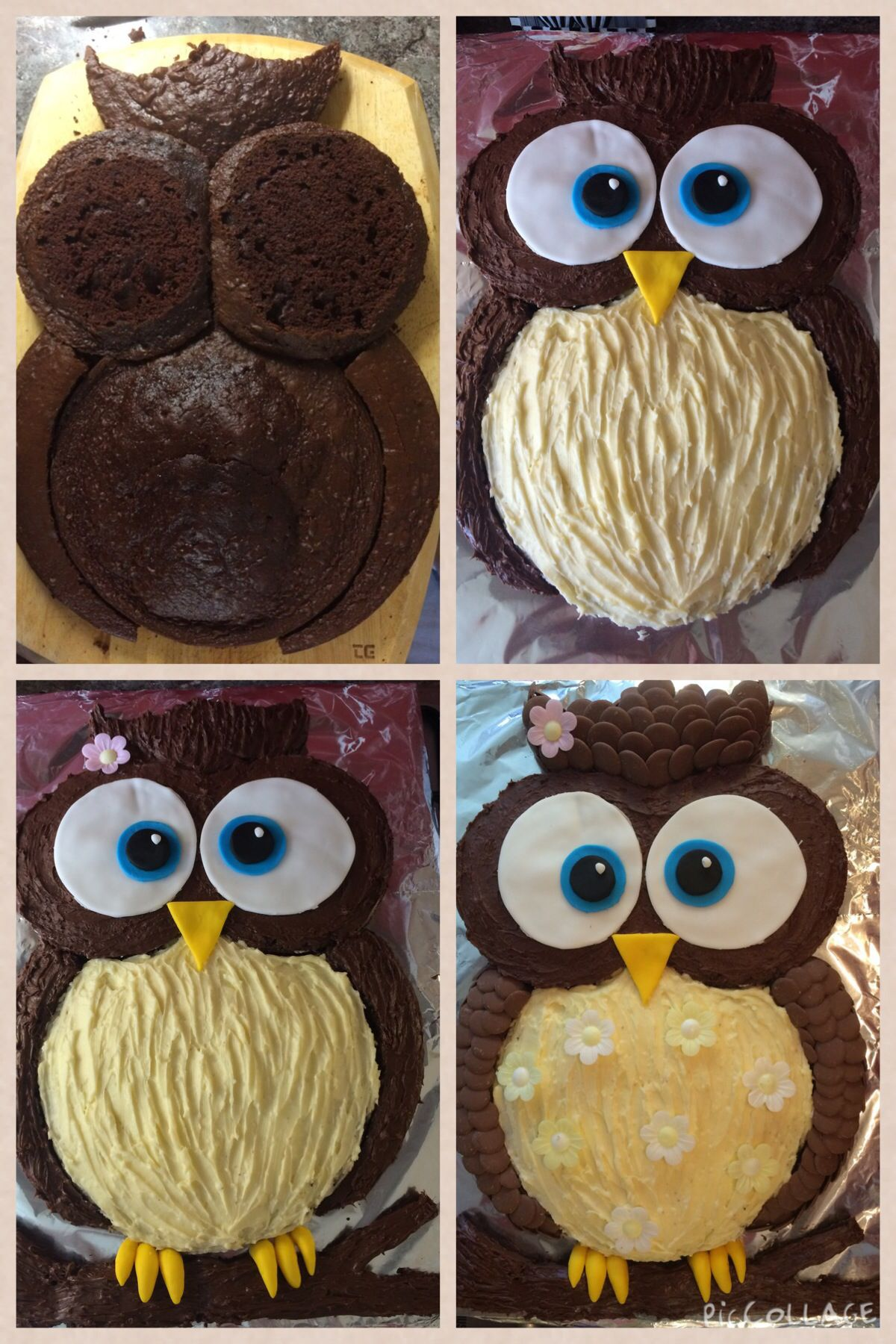 Owl Birthday Cake For My Two Year Old Daughter My Pinte