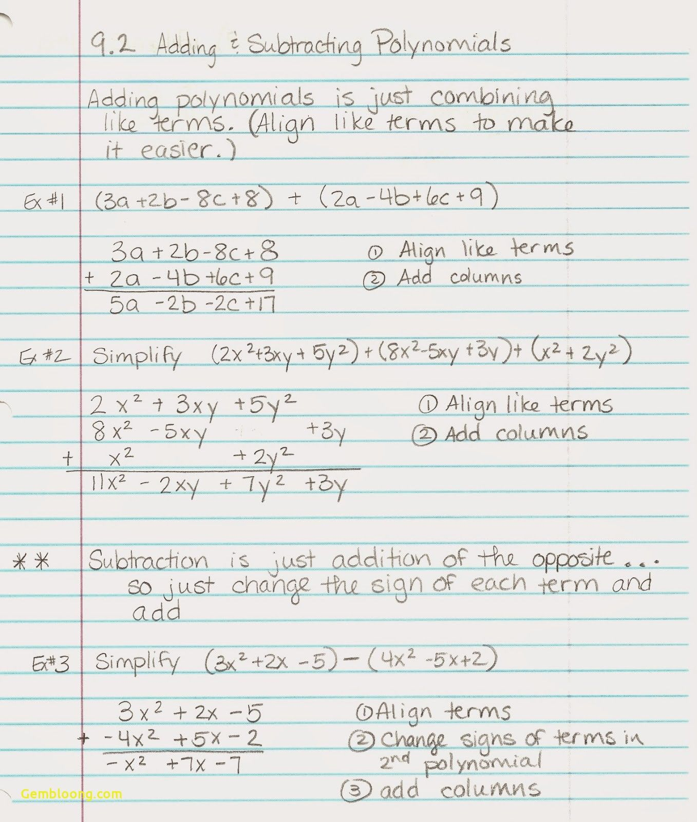 Readable Addition Of Polynomials Worksheet Worksheet