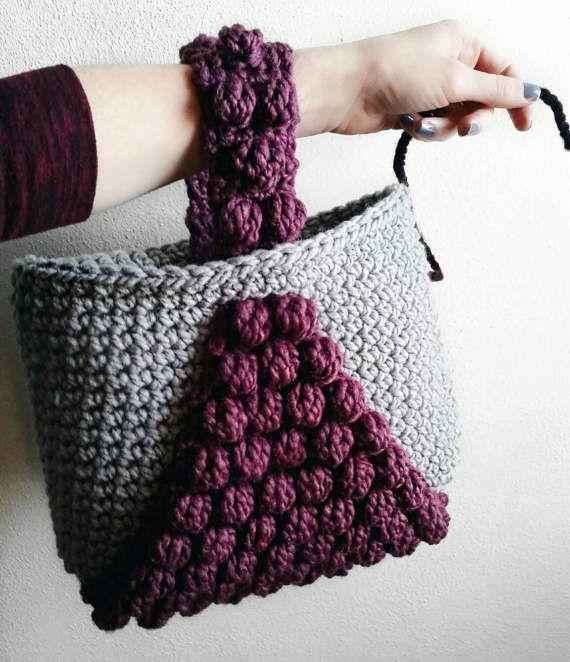 PATTERN: Crochet Tote Bag Pattern Bobble Tote crochet purse | Bags ...