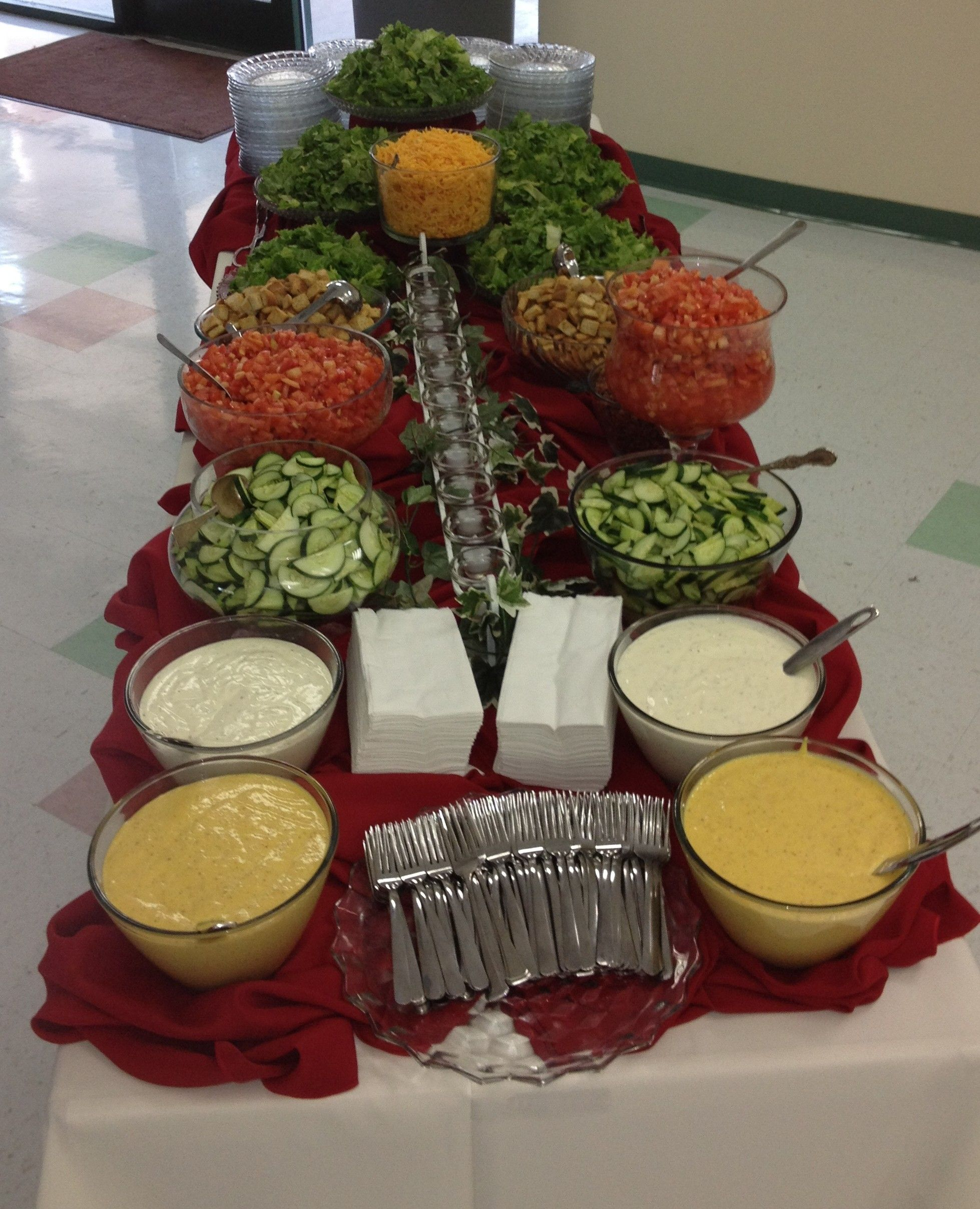 Good Buffet Food For Weddings: Salad Bar For Reception