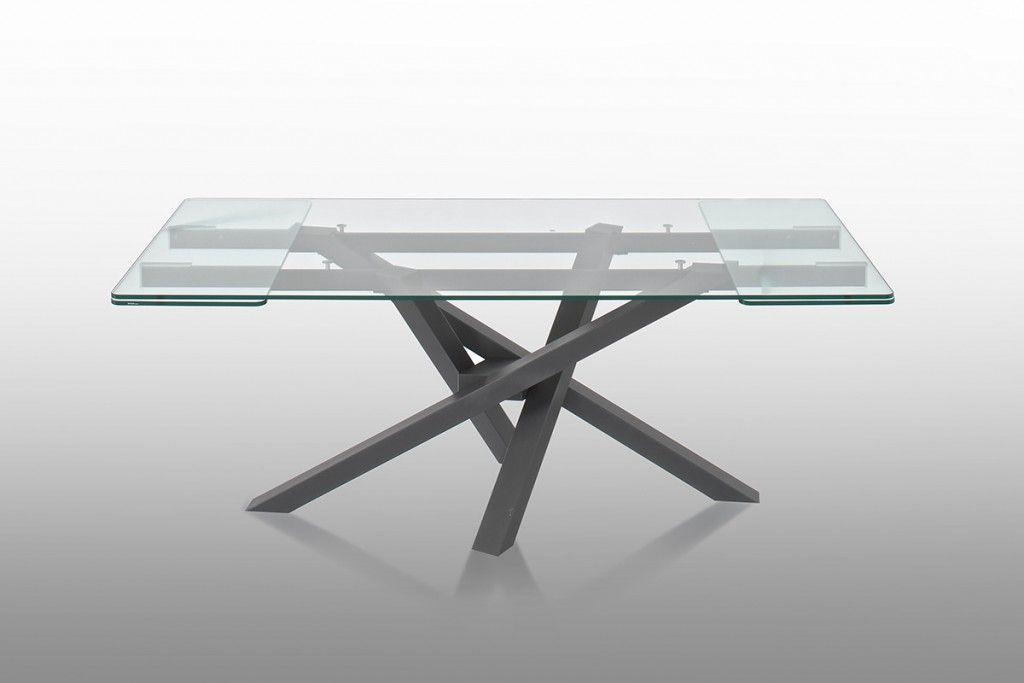 Il tavolo Shangai big in vetro allungabile è nato dall\'esigenza di ...