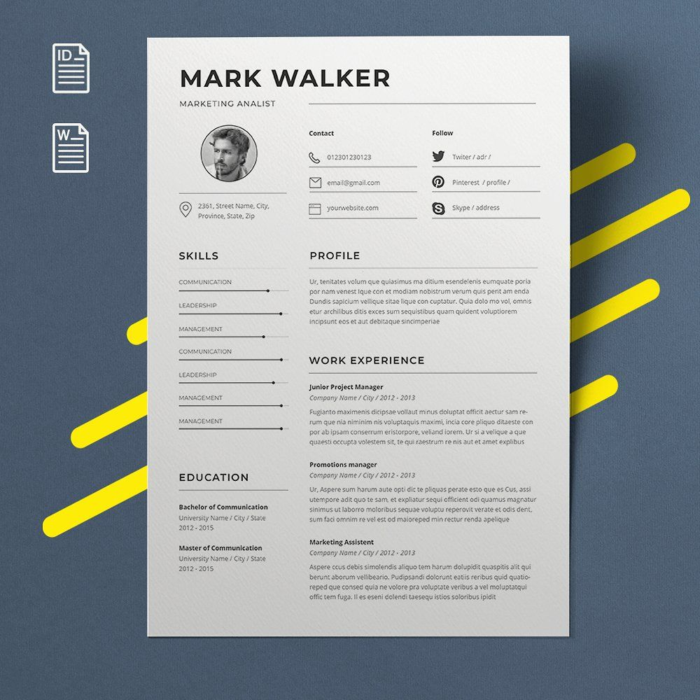 Resume Template Extract Files Software Winrar Vector