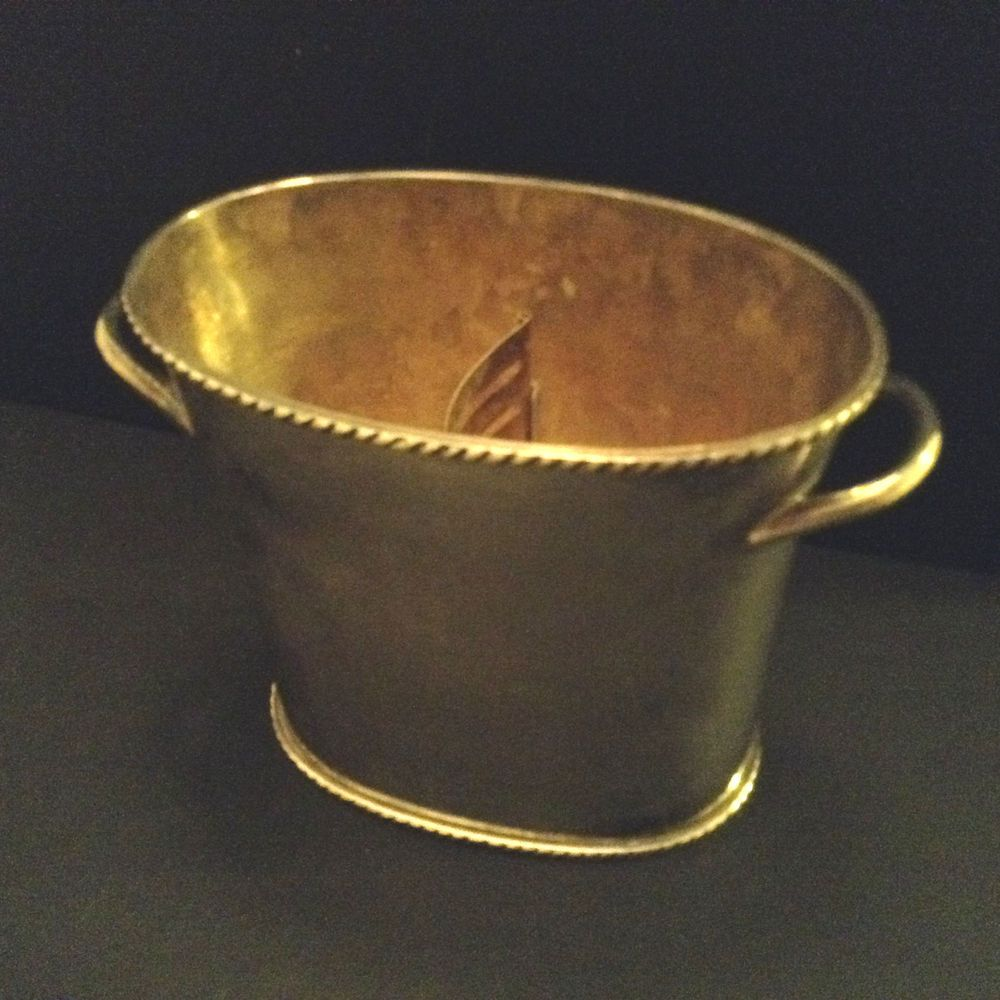 Pottery Barn Silver Plate Divided Wine Champagne Ice Cooler Bucket 7 3 4 Tall Potterybarn Wine Ice Bucket Ice Cooler Silver Plate