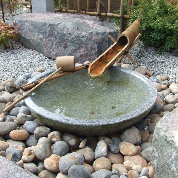 Japans Water Ornament.Shallow Bachi Kyoto Range Water Features In The Garden